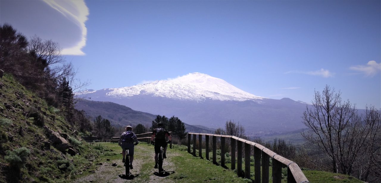 Mount Etna view from Randazzo