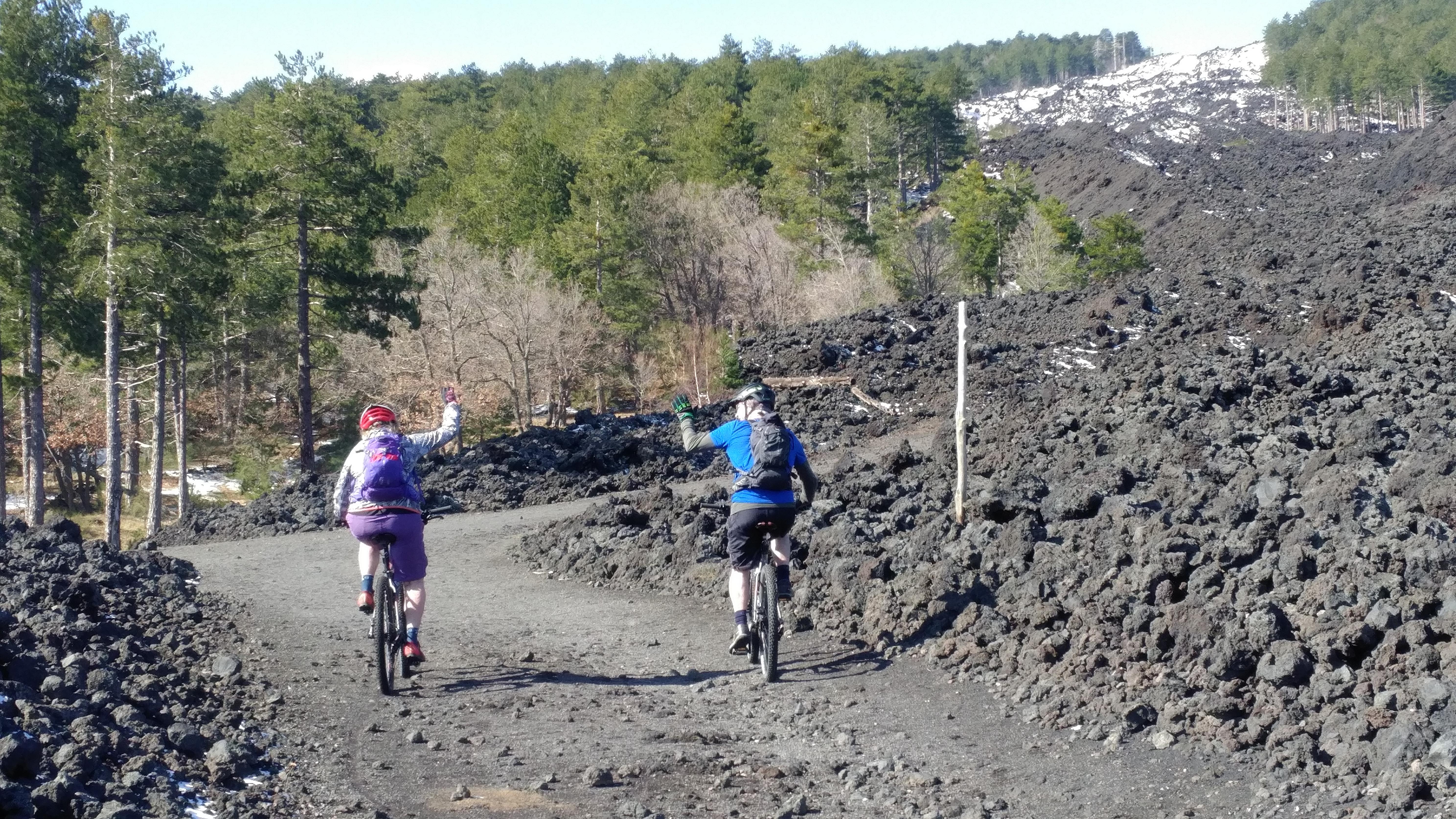 hike and bike mtb Mount Etna