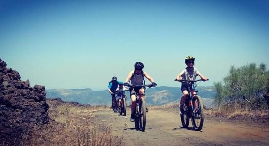 Half-day tour on Mount Etna with e-bike